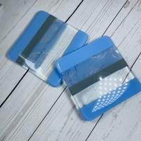 Drinks coasters in fused glass (SALE ITEM)