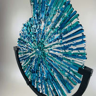 3dimensional ammonite glass sculpture (bespoke to your colours)