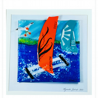 Fused glass Fastnet races picture