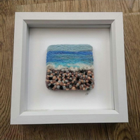 Pebble Beach Felted Painting