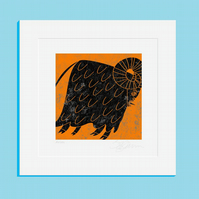 Aries 25x25cm Mounted Print