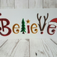 Christmas Believe wooden decoration freestanding christmas decor, new