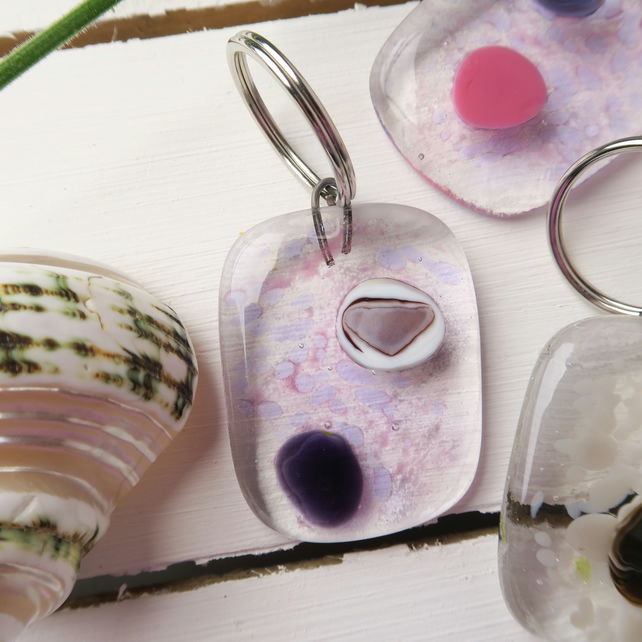 Handmade Fused Glass Keyring