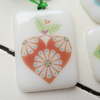 Made to Order Handmade Fused Glass Christmas Decoration