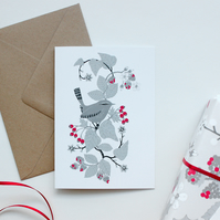 Wren and Hedgerow card