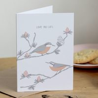 Nuthatch and Larch card