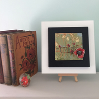 Poppy field - ceramic tile framed