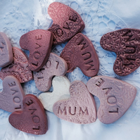 Scented Ceramic Heart - valentine or sweetheart gift, wedding favour