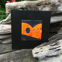 Orange and Black Ceramic Artwork - Abstract Landscape to brighten your life