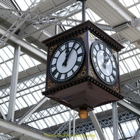 Giclee print, Fine art archival Photography, Glasgow Central Station clock