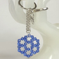 Hexagonal Blue Swarovski Crystal Handbag Charm