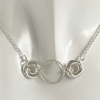 Sterling Silver Chainmaille Necklace