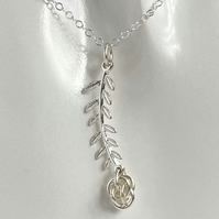 Sterling Silver Chainmaille Leaf pendant necklace