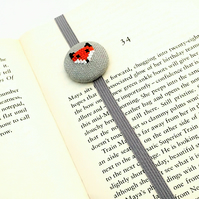 Hand Embroidered Fox Bookmark