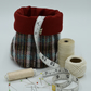 Fabric Storage Pot Welsh Wool Blanket