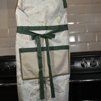 Linen apron Colefax & Fowler fabric