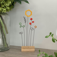 Letterbox Wire Crochet Flowers - Autumn hues