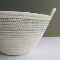 Jumbo Freshwater Bowl - a coiled rope bowl in shades of blue