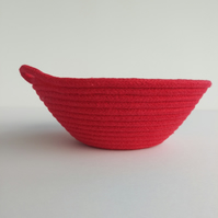 Large Freshwater Bowl made from bright red coloured cotton rope