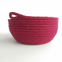 Brook Bowl - a wine coloured cotton rope bowl