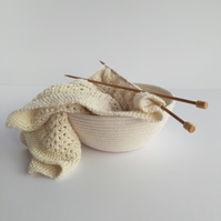 Brook Bowl - a coiled cotton rope bowl