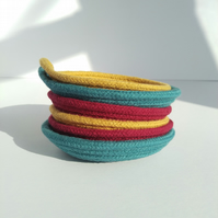 Mustard Coiled Rope Trinket Dish