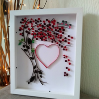 Tree Heart Paper Quilling Art