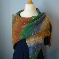 Northern Lights Wrap, Shawl, Stole