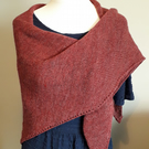 British Wool Shawl - Autumn Red