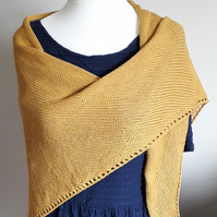 Cotton Shawl, Mustard Wrap, Stole, Cover Up