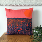Poppy Fields handmade cushion