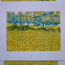 Buttercup Fields original screen print MISPRINT