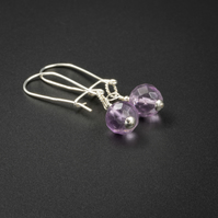 Fluorite sterling silvergemstone earrings, Pisces gift