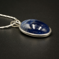 Sodalite, sterling silver gemstone pendant necklace, Sagittarius gift