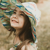 Childrens Sunhat - Floppy Sunhat for Kids - Summer Hats - Choose Your Fabric