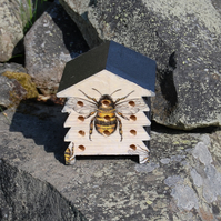 Bumble Bee Wooden Bee Hive House, Insect House,