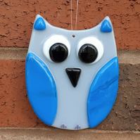 Fused Glass Owl Wall Decoration