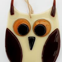 Fused Glass Owl Wall Decoration - Long Ears