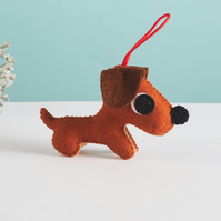 Miniature Dachshund hanging ornament