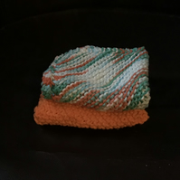 Hand Knit Cotton Dishcloth Pack of 2