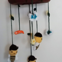 Bee & Butterfly Nursery Mobile