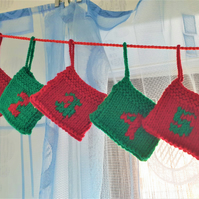 Advent Garland, re-usable Christmas decoration