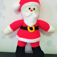 Santa Claus Hand Knitted Soft Toy, CE Tested