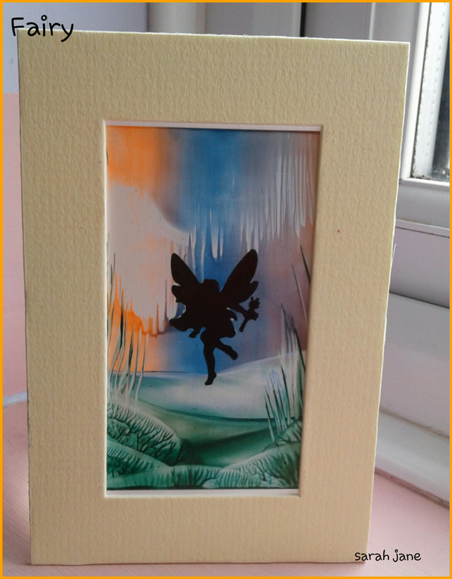 fairy silhouette miniature painting