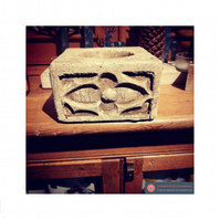 Lovely gothic holly candle block holder