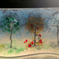 """4 Seasons"" Fused Glass sun catcher - Free UK Delivery"