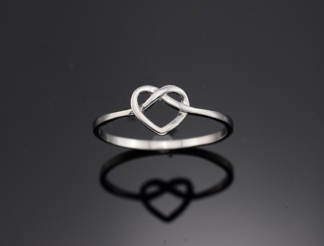 Sterling Silver Ring, Love ring, Silver ring, Dinty ring, Delicate ring, Modern