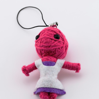 Voodoo doll keyring, keychain, voodoo rag doll, novelty doll, dress doll keyring