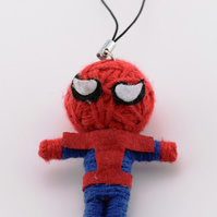 Voodoo doll keyring, keychain, voodoo rag doll, novelty doll, spiderman keyring