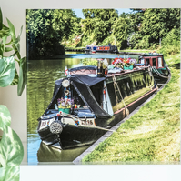 Kennet & Avon Canal Blank Greetings Card houseboat narrowboat canal boat